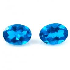 Vibrant Neon Blue Hue 2089 Neon Apatite Cabs Round Shape 5x5mm Approximately 7.00 Carat Excellent Neon Blue Color Asparagus Stone