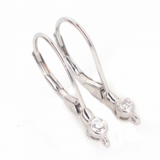 0.07 Carat Diamond Huggie Earring In 14k White Gold