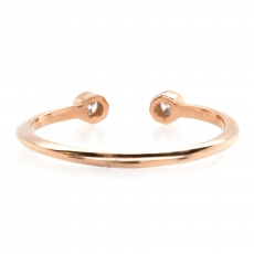 0.09 Carat Bezel Set Diamond Stackable Ring Band In 14K Rose Gold