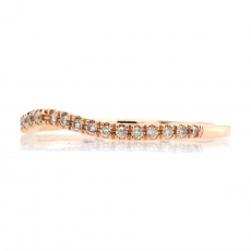 0.11 Carat Curved Diamond Contour Ring Band In 14K Rose Gold
