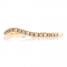 0.12 Carat Curved Diamond Contour Ring Band In 14k Yellow Gold