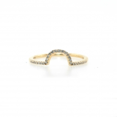 0.12 Carat Diamond Band In 14k Yellow Gold