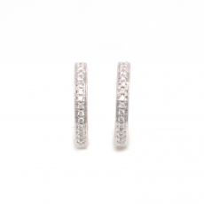 0.12 Carat Diamond huggie earring in 14k white gold