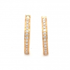 0.12 Carat Diamond huggie earring in 14k yellow gold