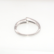 0.13 T.C.W wHITE Diamond Ring BAND In 14K White Gold