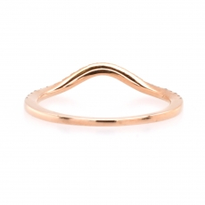 0.14 Carat Curved Diamond Contour Ring Band In 14K Rose Gold