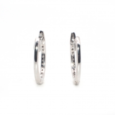 0.15 Carat Diamond Huggie Earring In 14k White Gold