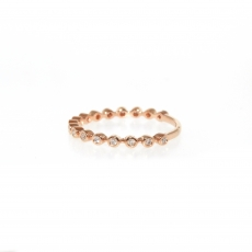 0.15 Carat Diamond Ring In 14k Rose Gold