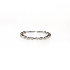 0.15 Carat Diamond Ring In 14k White Gold