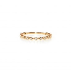 0.15 Carat Diamond Ring In 14k Yellow Gold