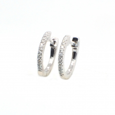 0.16 Carat Diamond Huggie Earring In 14k White Gold