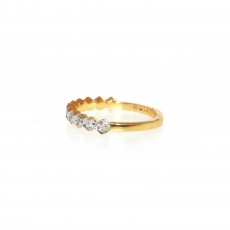 0.16 Carat Diamond Ring In 14k Dual Tone Gold (yellow/white)