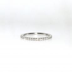 0.17 Carat Diamond Ring In 14k White Gold