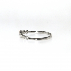 0.18 Carat Diamond Ring In 14k White Gold