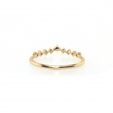 0.18 Carat Diamond Ring In 14k Yellow Gold