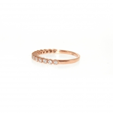 0.21 Carat Diamond Ring In 14k Rose Gold