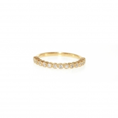 0.21 Carat Diamond Ring In 14k Yellow Gold