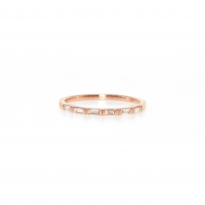 0.23 Carat Diamond Ring In 14k Rose Gold