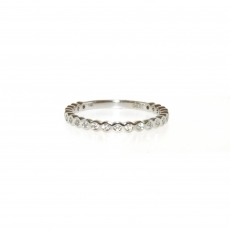 0.23 Carat Diamond Ring In 14k White Gold
