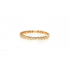 0.23 Carat Diamond Ring In 18k Yellow Gold