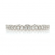 0.26 Carat White Diamond Halfway Anniversary Ring Band In 18K White Gold