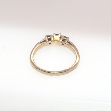 0.27 T.C.W CHAMPAGNE AND GREEN Diamond Ring BAND In 14K yELLOW Gold