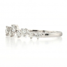 0.29 Carat Scattered Diamond Stackable Ring Band In 14K White Gold