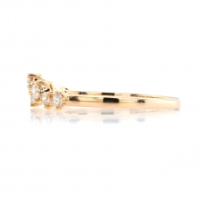 0.29 Carat Scattered Diamond Stackable Ring Band In 14K Yellow Gold