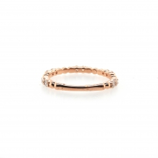 0.35 Carat Diamond Eternity Ring In 14k Rose Gold