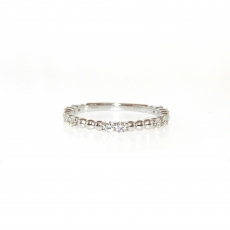0.37 Carat Diamond Ring In 14k White Gold