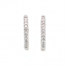 0.39 Carat Diamond Huggie Earring In 14k White Gold