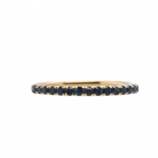 0.4 Carat Sapphire With Stackable Ring Band in 14K Yellow Gold