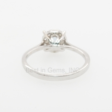 0.41 Carat Aquamarine And DIamond ring in 14K White Gold