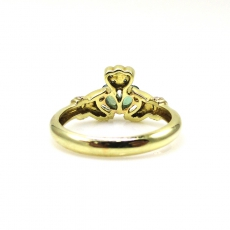 0.42 Carat Natural Color Change Alexandrite And Diamond Ring In 14k Green Gold(s)