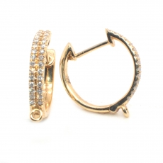 0.44 Carat Diamond Huggie Earring In 14k yellow Gold