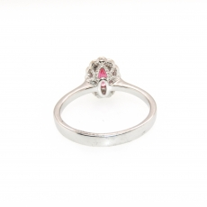 0.47 Carat Red Spinel And Diamond Ring In 14k Rose Gold