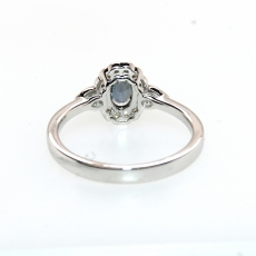 0.51 Carat Natural Color Change Alexandrite And Diamond Ring In 14k White Gold