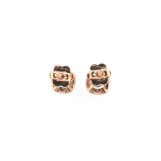 0.65 Carat Sapphire And Diamond Earring In 14k Rose Gold
