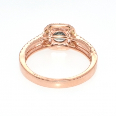 0.70 Carat Natural Alexandrite And Diamond Ring In 14K Rose Gold