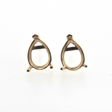 10x7mm Pear Findings In 14k Gold
