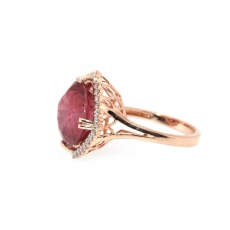 11.27 Carat Madagascar Ruby And Diamond Ring 14k Rose Gold