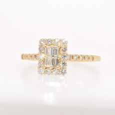 1/2 Carat Composite Diamond Ring in 18k yellow gold