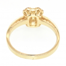 1/2 Carat Invisible Setting Diamond Ring in 18k yellow gold
