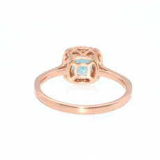 1.20 Carat Paraiba Color Apatite And Diamond Ring In 14k Rose Gold