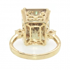 12.80 Color Change Turkish Diaspore and Diamond Ring in 14K Yellow Gold