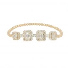 1.30 carat Composite Diamond Bracelet in 18K yellow gold