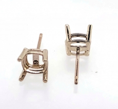 14k  5mm Square Shape Findings With Push Back