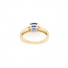 1.65 Kyanite And Diamond Ring 14k Yellow Gold