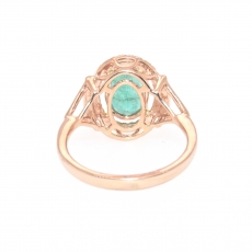 1.86 Carat Zambian Emerald And Diamond Engagement Ring In 14k Rose Gold