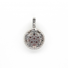 2.25 Carat Madagascar Ruby With Diamond Pendant In 14k White Gold